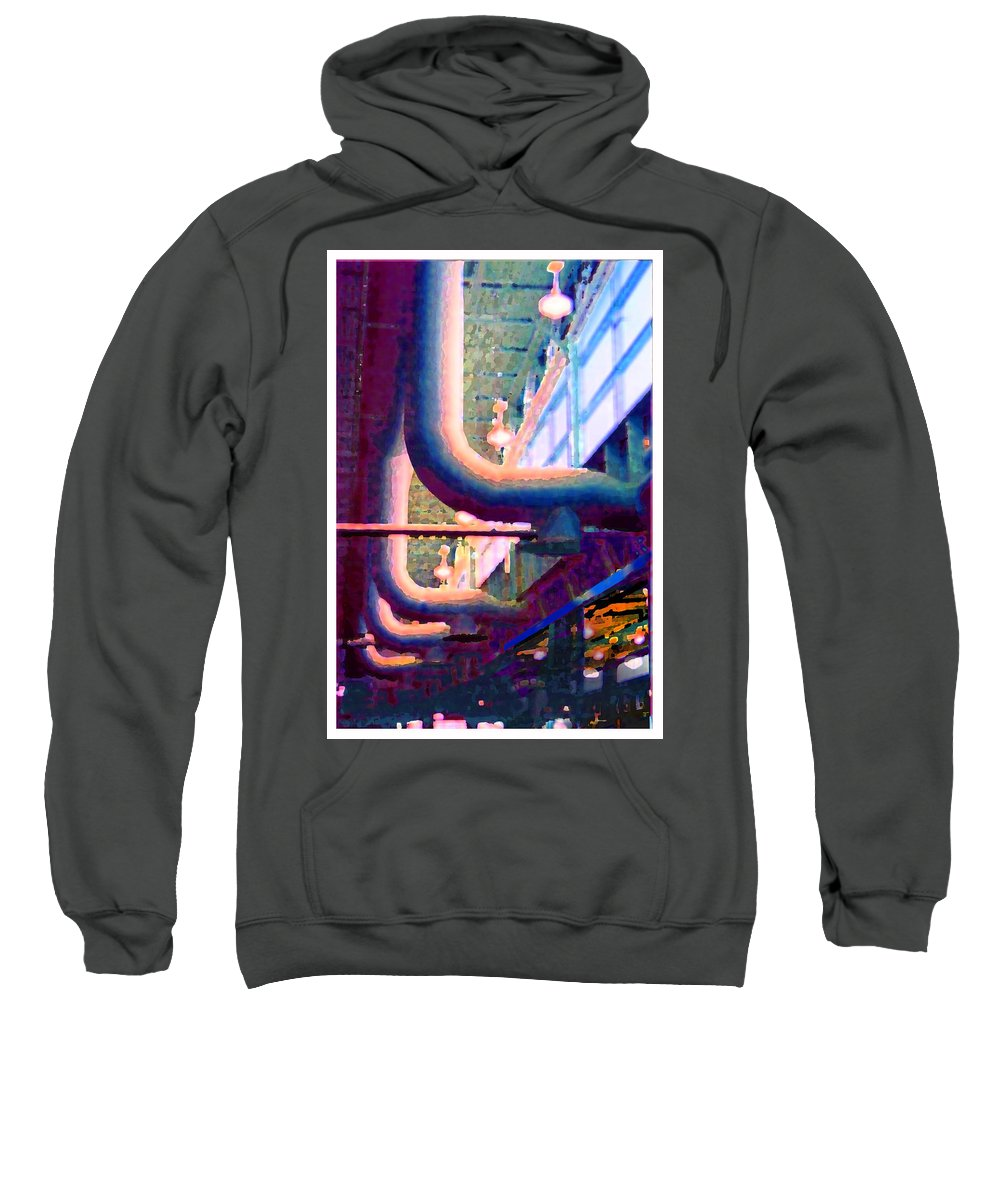 Abstract Sweatshirt featuring the photograph panel one from Star Factory by Steve Karol