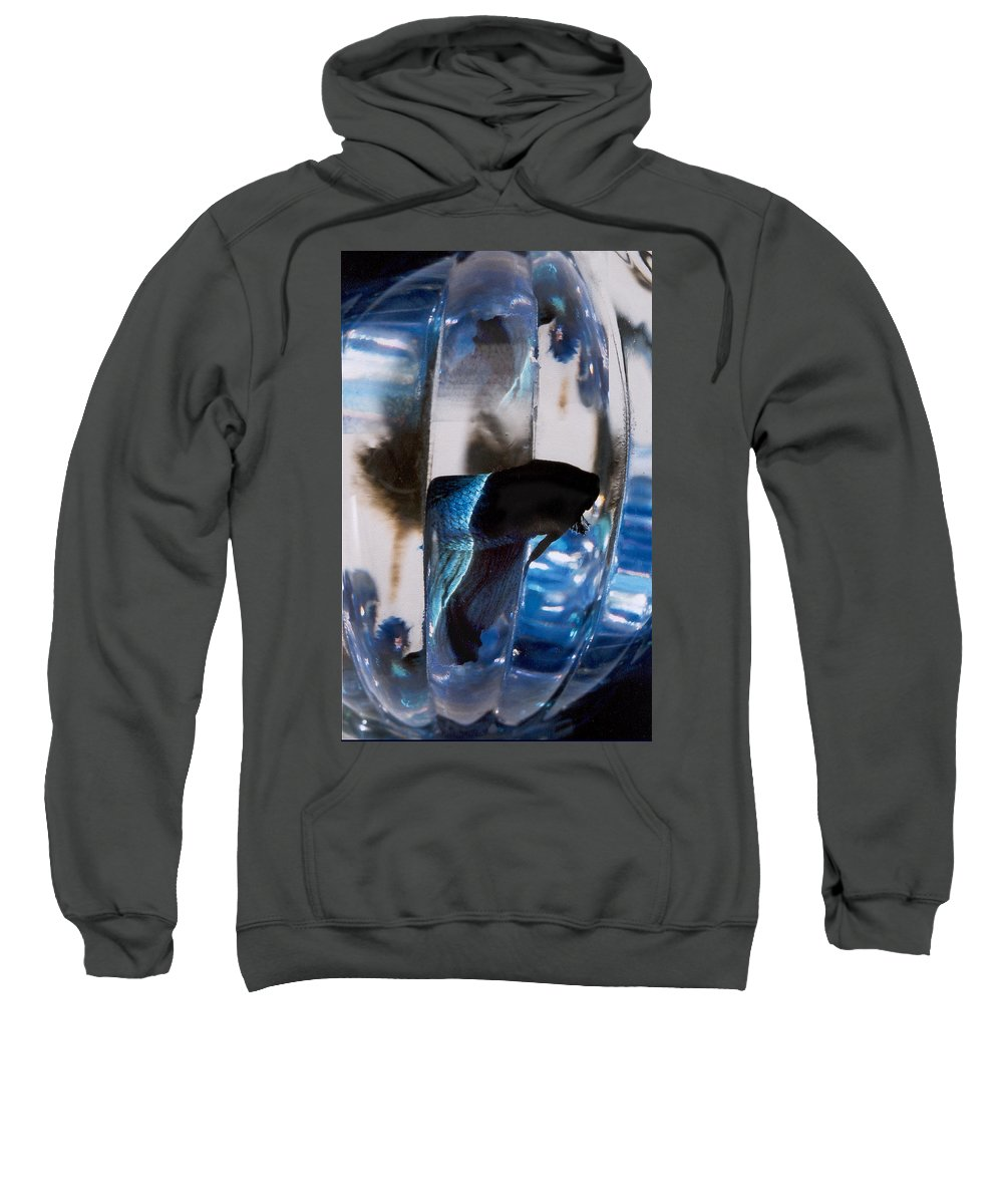 Abstract Sweatshirt featuring the photograph panel three from Swirl by Steve Karol