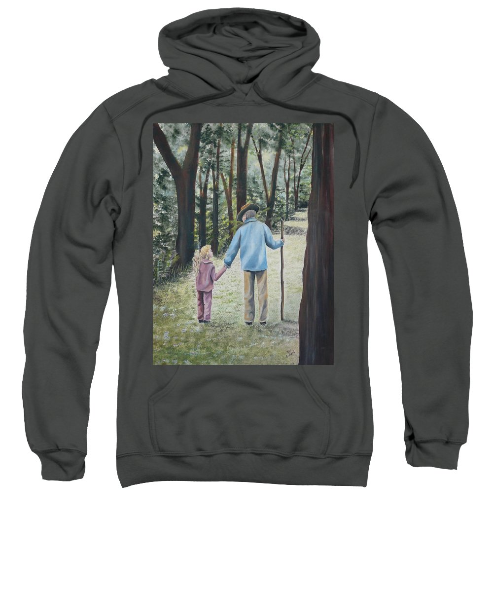 Grandfather Sweatshirt featuring the painting Papa by Kris Crollard