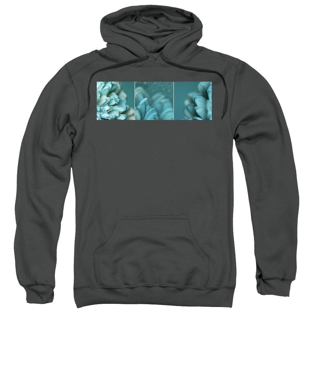 Monochrome Sweatshirt featuring the photograph Paper Flower by Lisa Knechtel
