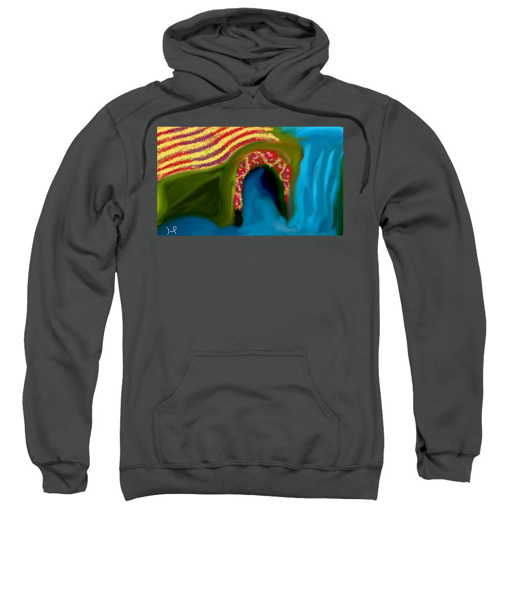 Landscape Sweatshirt featuring the digital art Paradise by Hager Abdelrahim