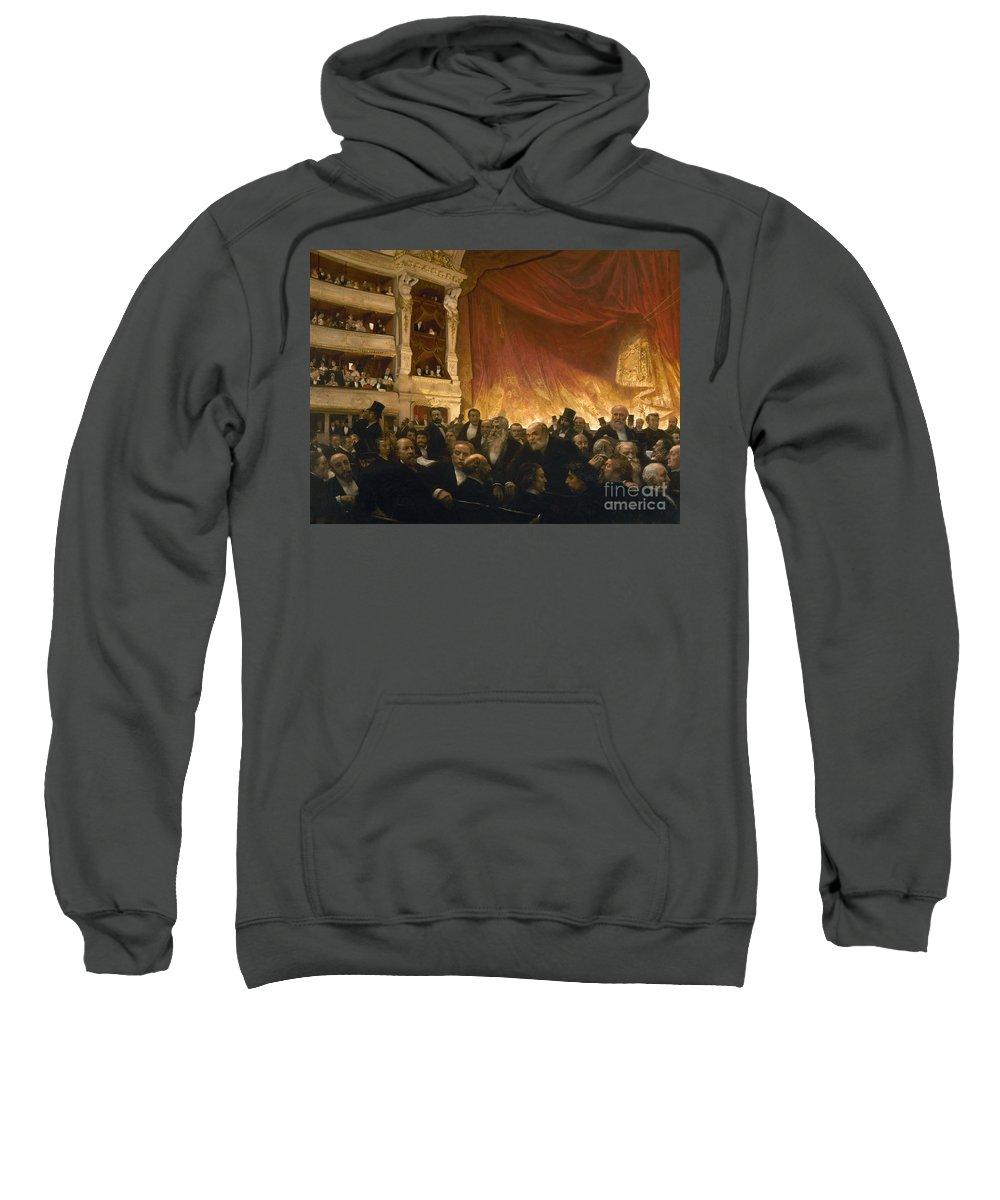 1885 Sweatshirt featuring the photograph Paris: Comedie Francais by Granger