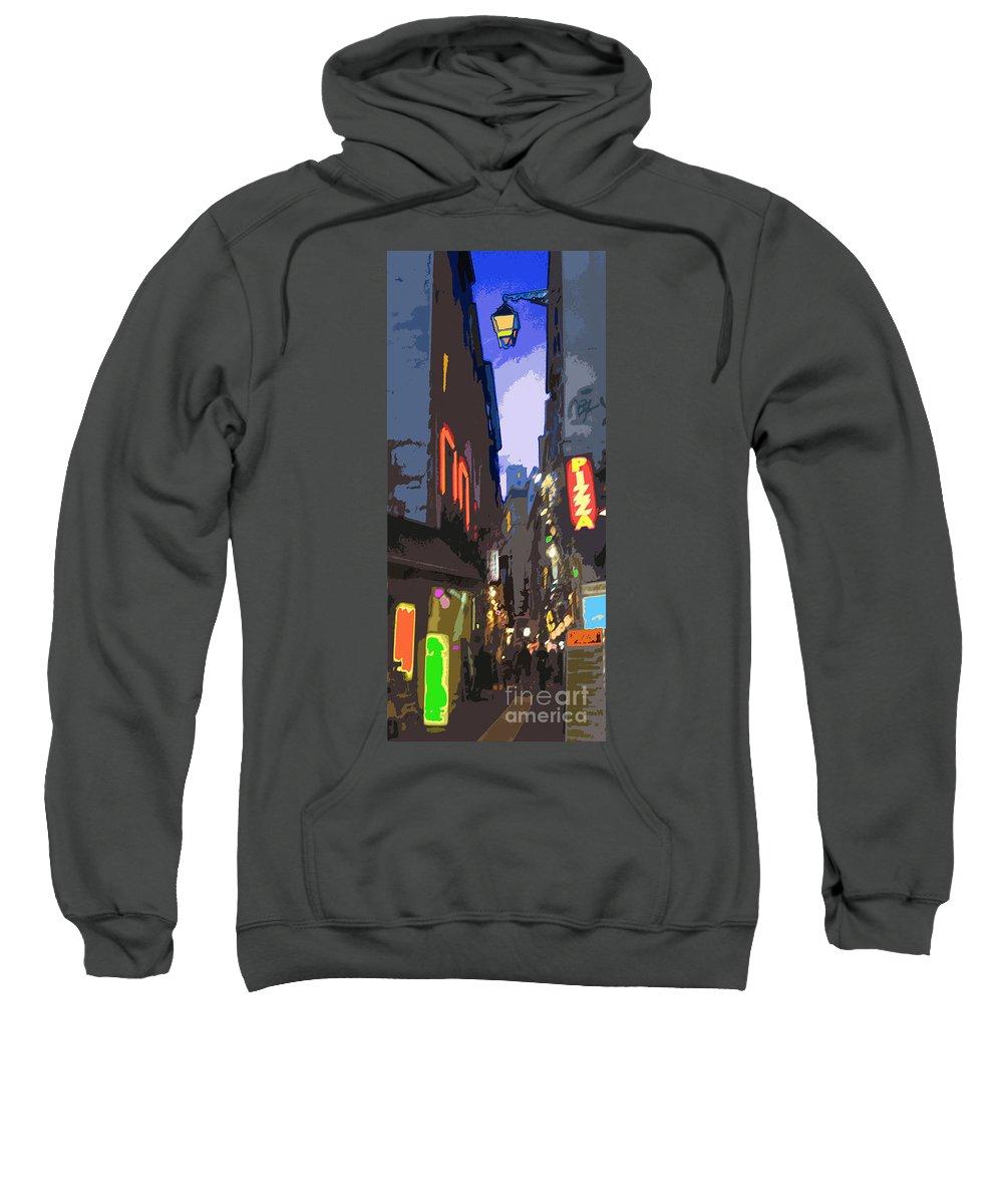 Paris Sweatshirt featuring the photograph Paris Quartier Latin 01 by Yuriy Shevchuk