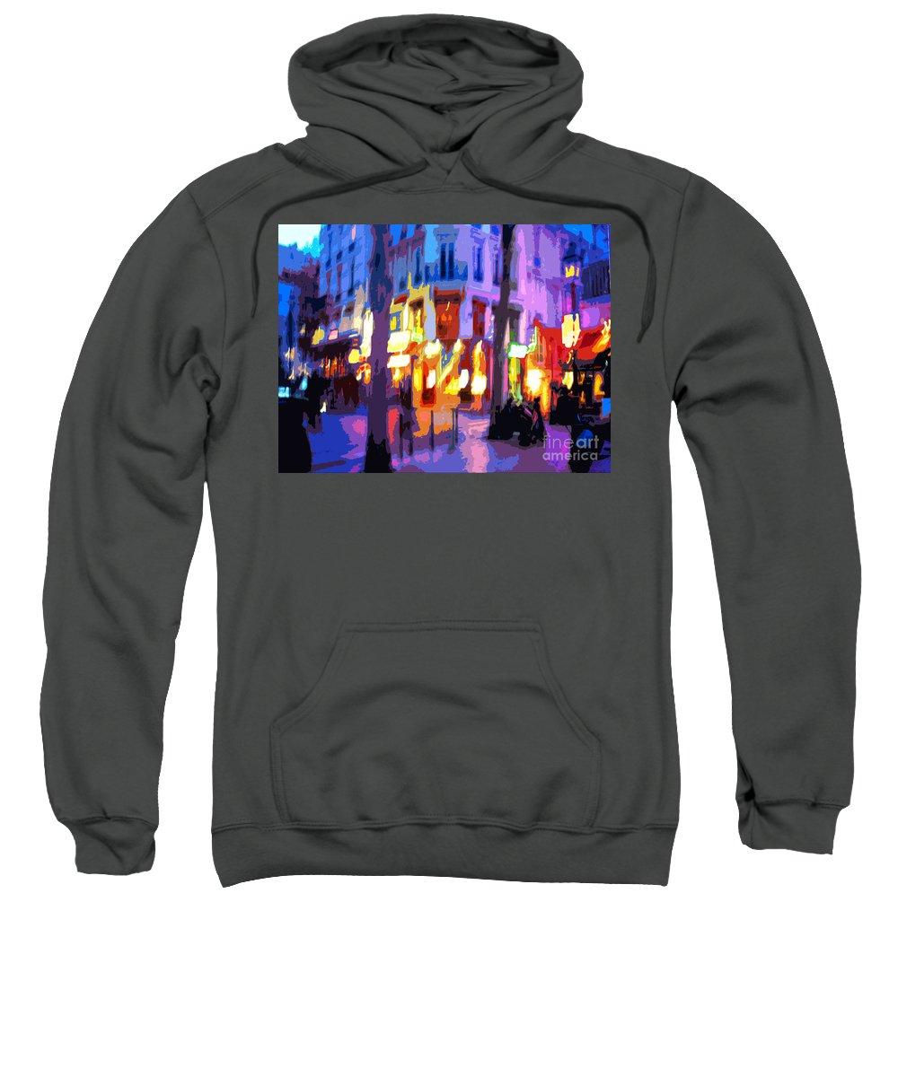 Paris Sweatshirt featuring the photograph Paris Quartier Latin 02 by Yuriy Shevchuk