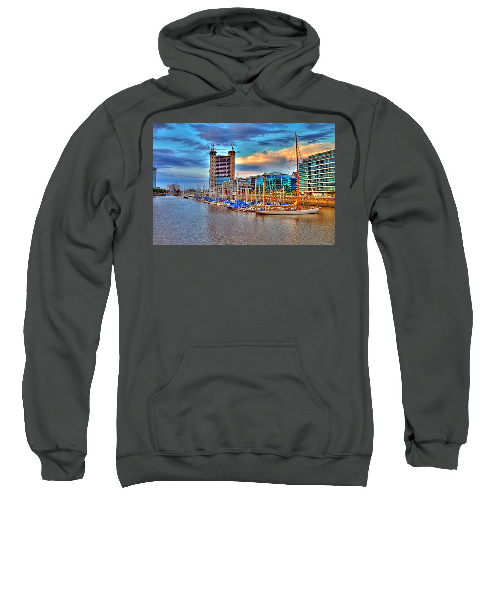 Buenos Sweatshirt featuring the photograph Parking Boat - Puerto Madero by Francisco Colon