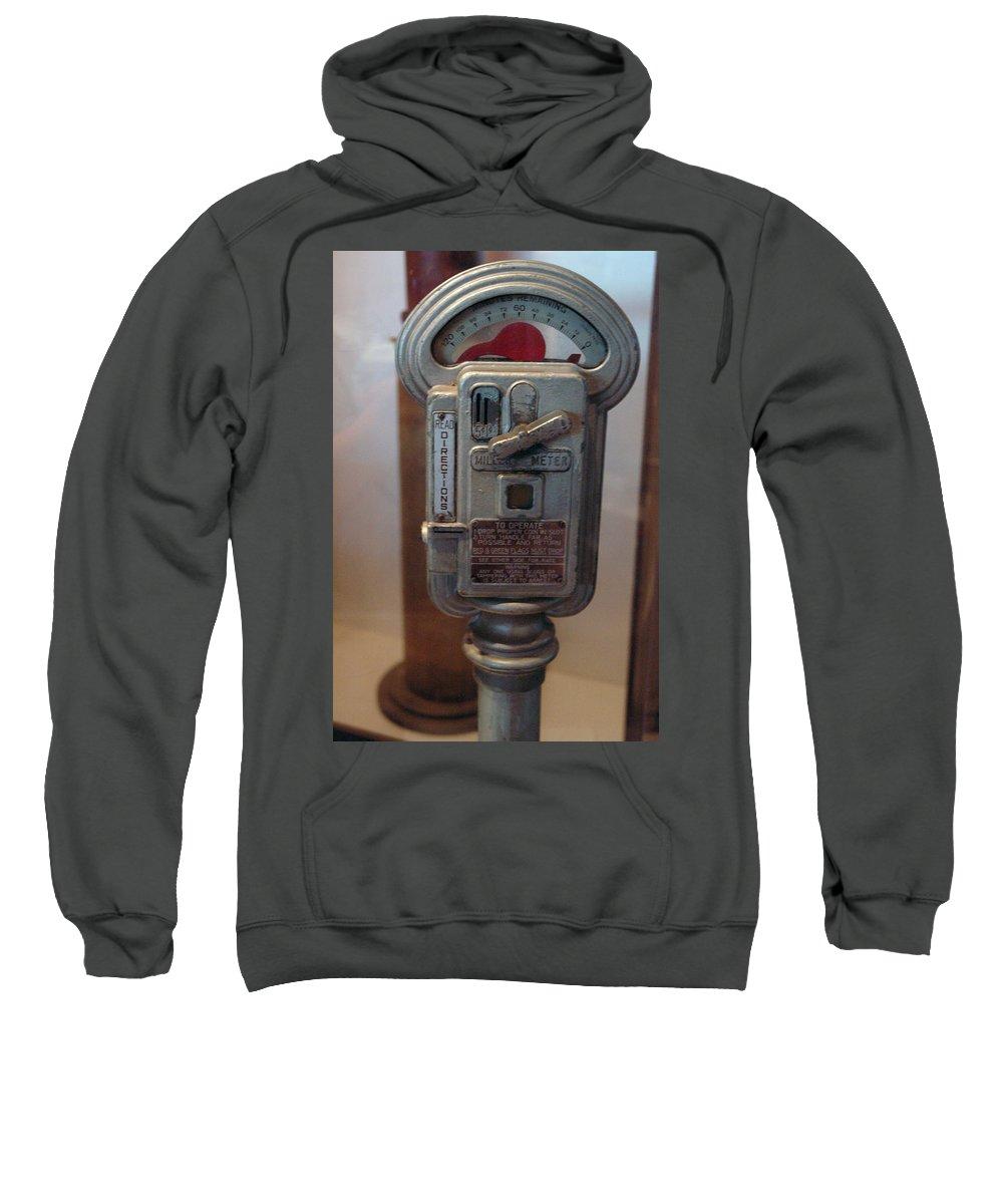 Usa Sweatshirt featuring the photograph Parking Meter Change by LeeAnn McLaneGoetz McLaneGoetzStudioLLCcom