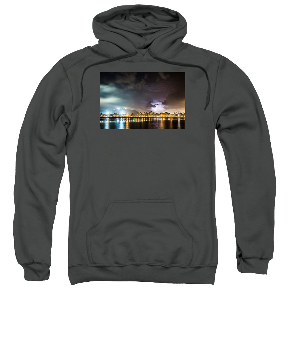 City Sweatshirt featuring the photograph Party Town by Zach Brown