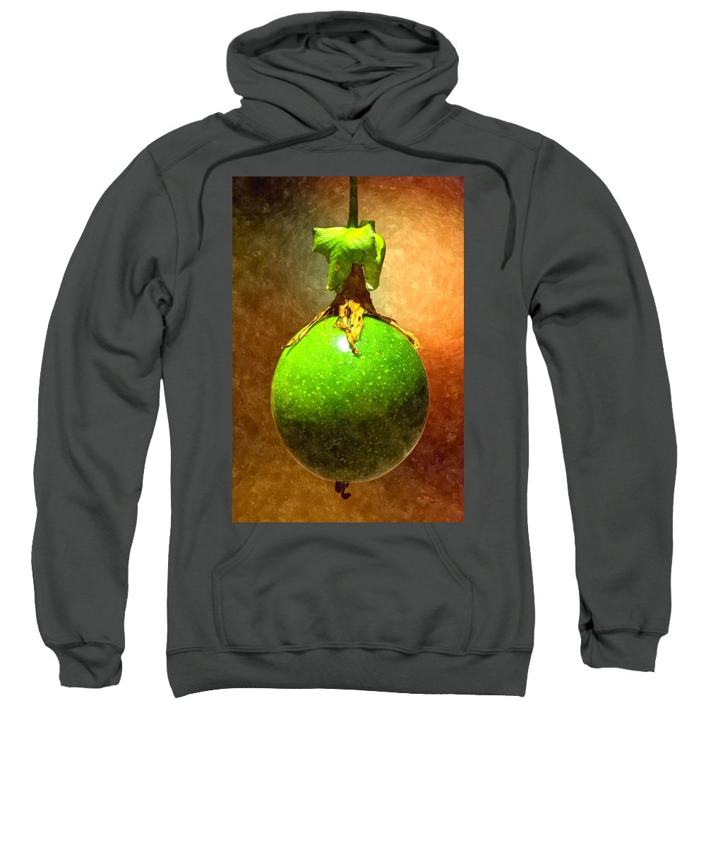 Passion Fruit Sweatshirt featuring the digital art Great Passion Fruit by Max Steinwald
