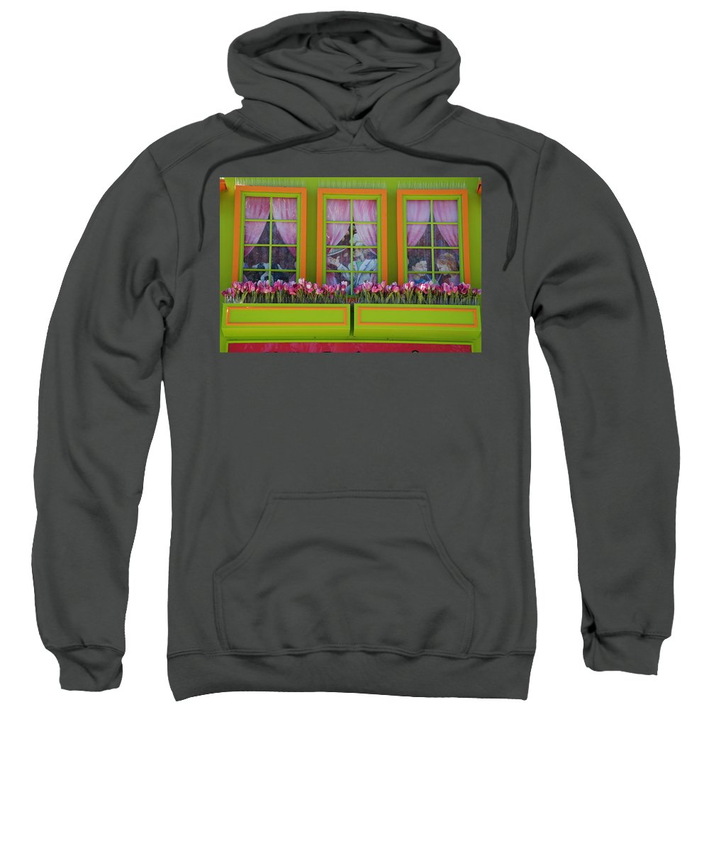 Architecture Sweatshirt featuring the photograph Pastle Windows by Rob Hans