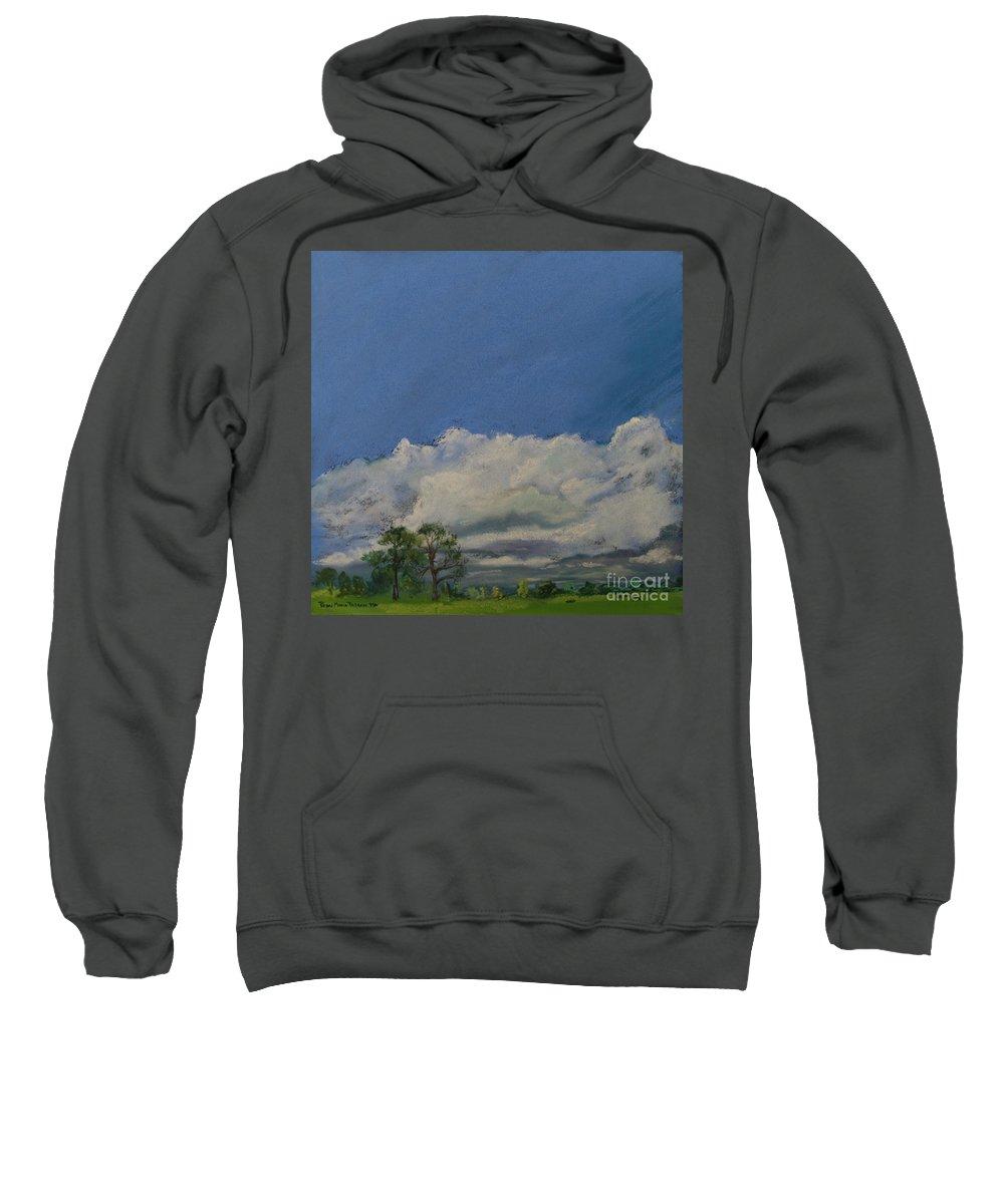 Pasture Sweatshirt featuring the pastel Pasture II by Robin Maria Pedrero
