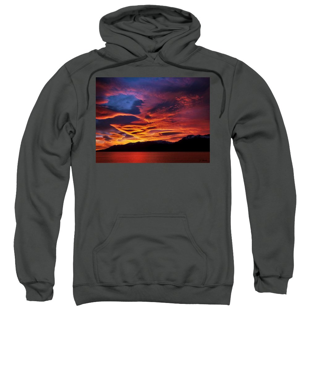 Patagonia Sweatshirt featuring the photograph Patagonian Sunrise by Joe Bonita