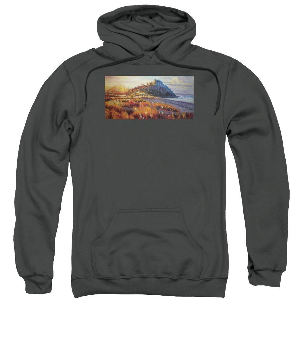 Landscape Sweatshirt featuring the painting Pataua by Elena Sokolova