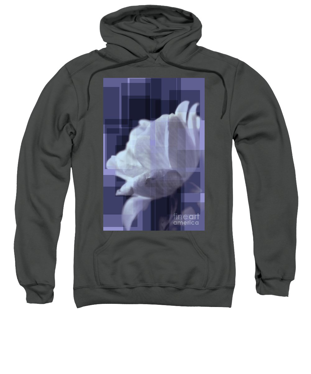 Abstract Art Sweatshirt featuring the photograph Patchwork Rose by Donna Bentley