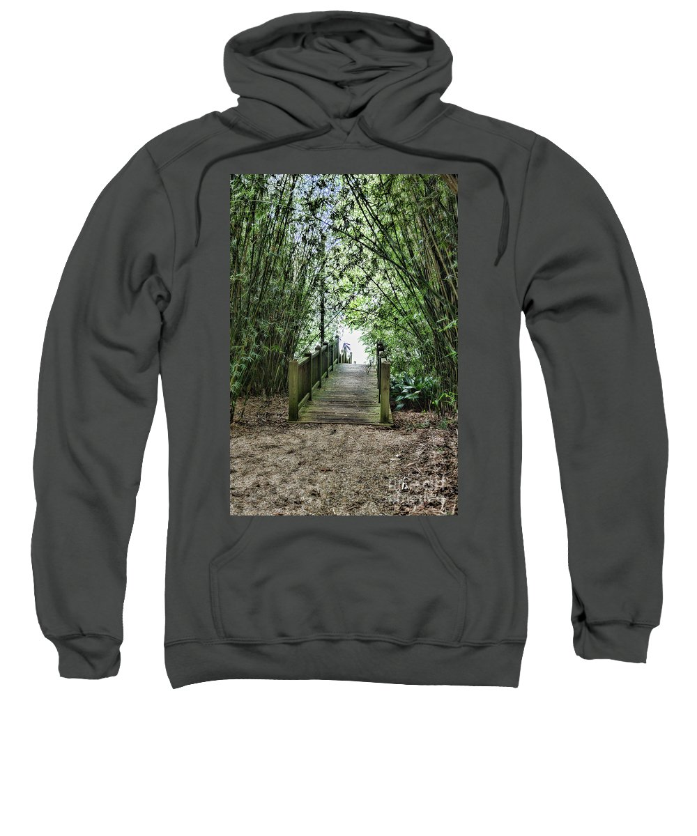 Landscape Sweatshirt featuring the photograph Path To Jefferson Lake Louisiana by Chuck Kuhn