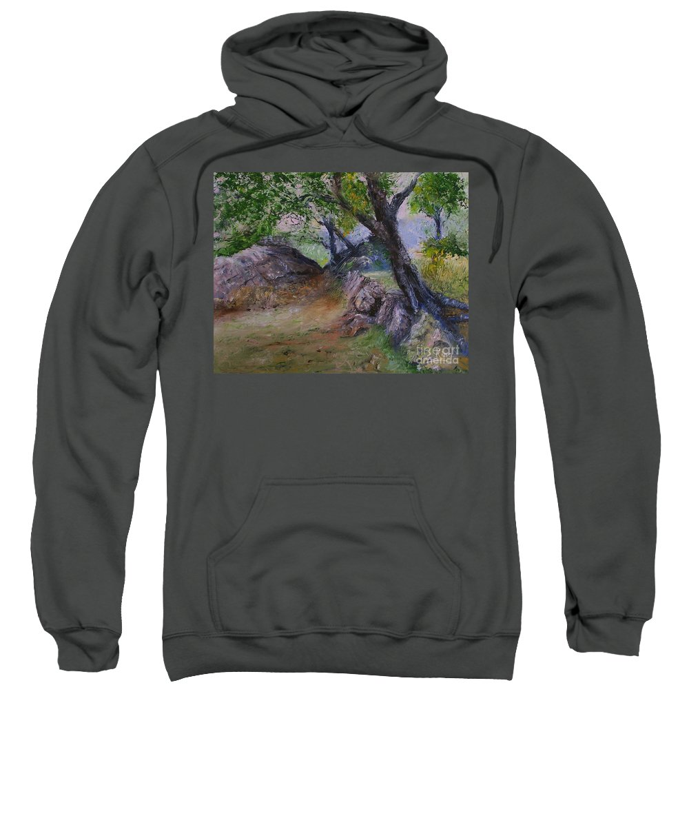Landscape Sweatshirt featuring the painting Path To Nowhere by Stephen King