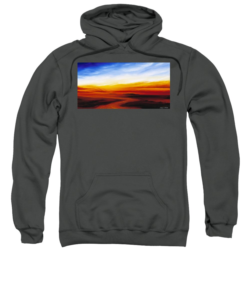 Sunrise Sweatshirt featuring the painting Path To Redemption by James Christopher Hill