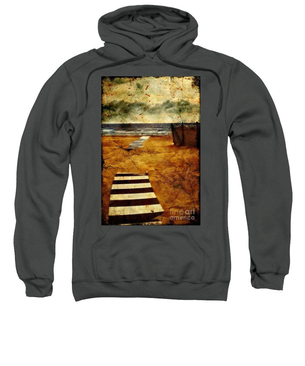 Path Sweatshirt featuring the photograph Pathway To The Sea II by Silvia Ganora