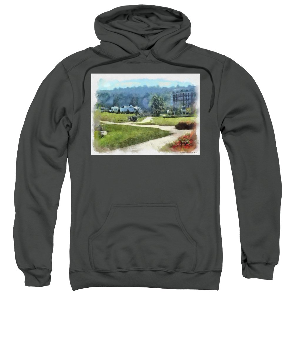 Homestead Sweatshirt featuring the painting Pathways by Paulette B Wright
