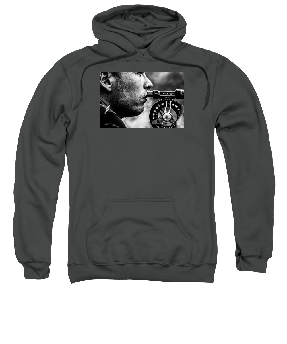 Fly Fisher Sweatshirt featuring the photograph Patience by Sindre Engelstad