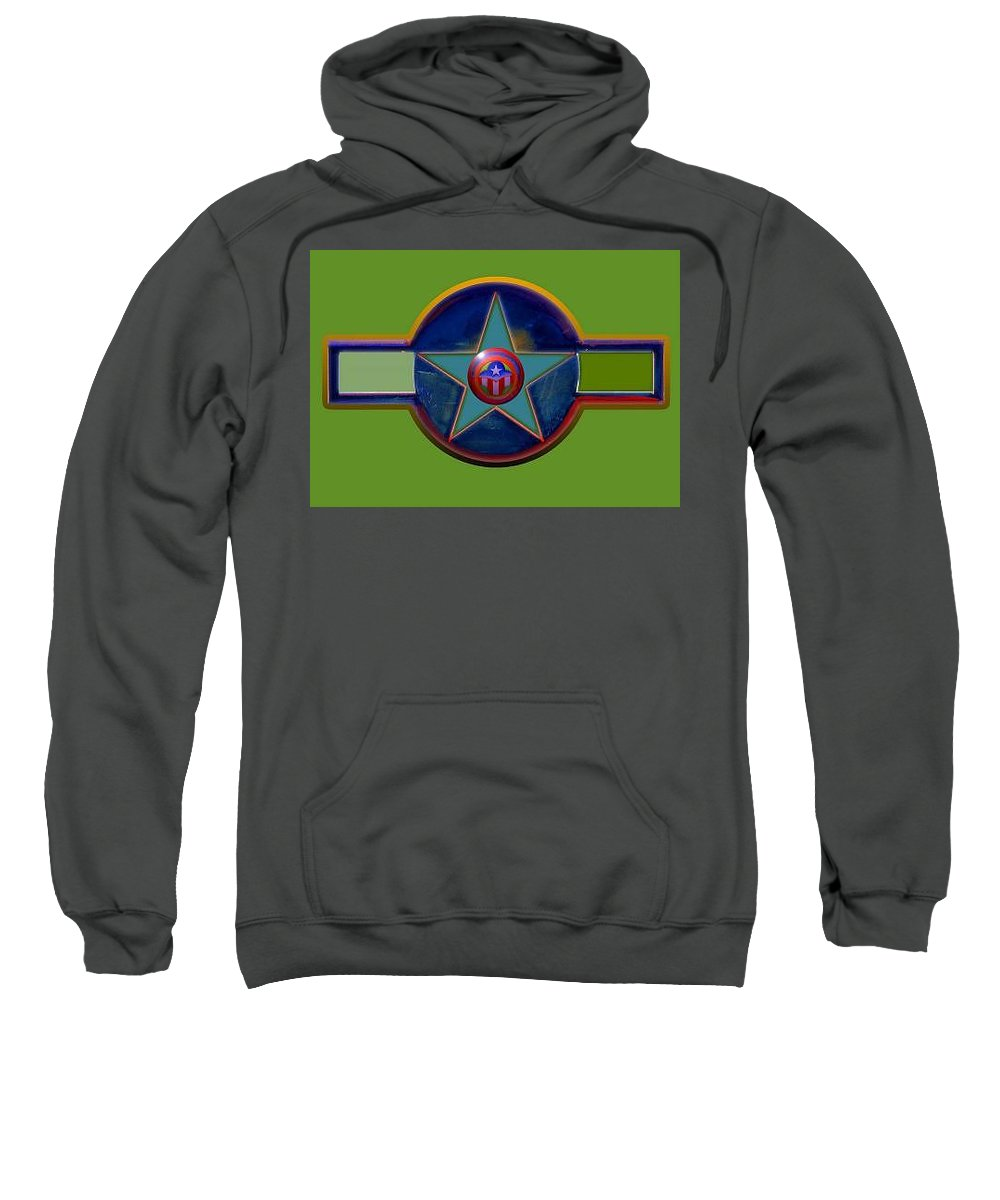 Usaaf Insignia Sweatshirt featuring the digital art Pax Americana Decal by Charles Stuart