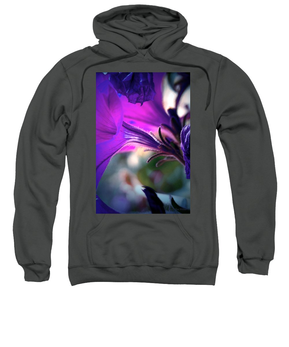 Flowers Sweatshirt featuring the photograph Pe-tune-ya by Arthur Miller