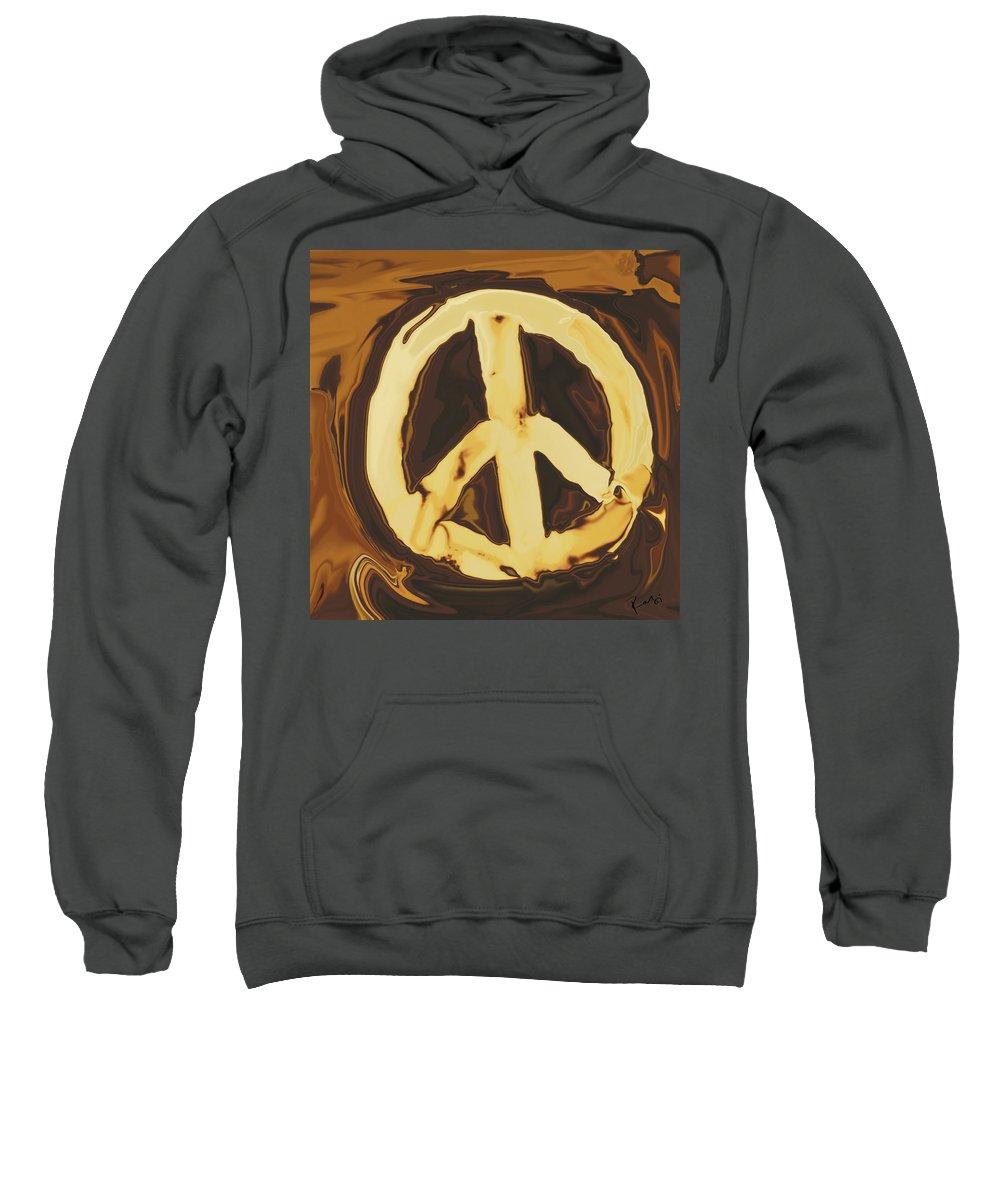 Freedom Sweatshirt featuring the digital art Peace 2 by Rabi Khan