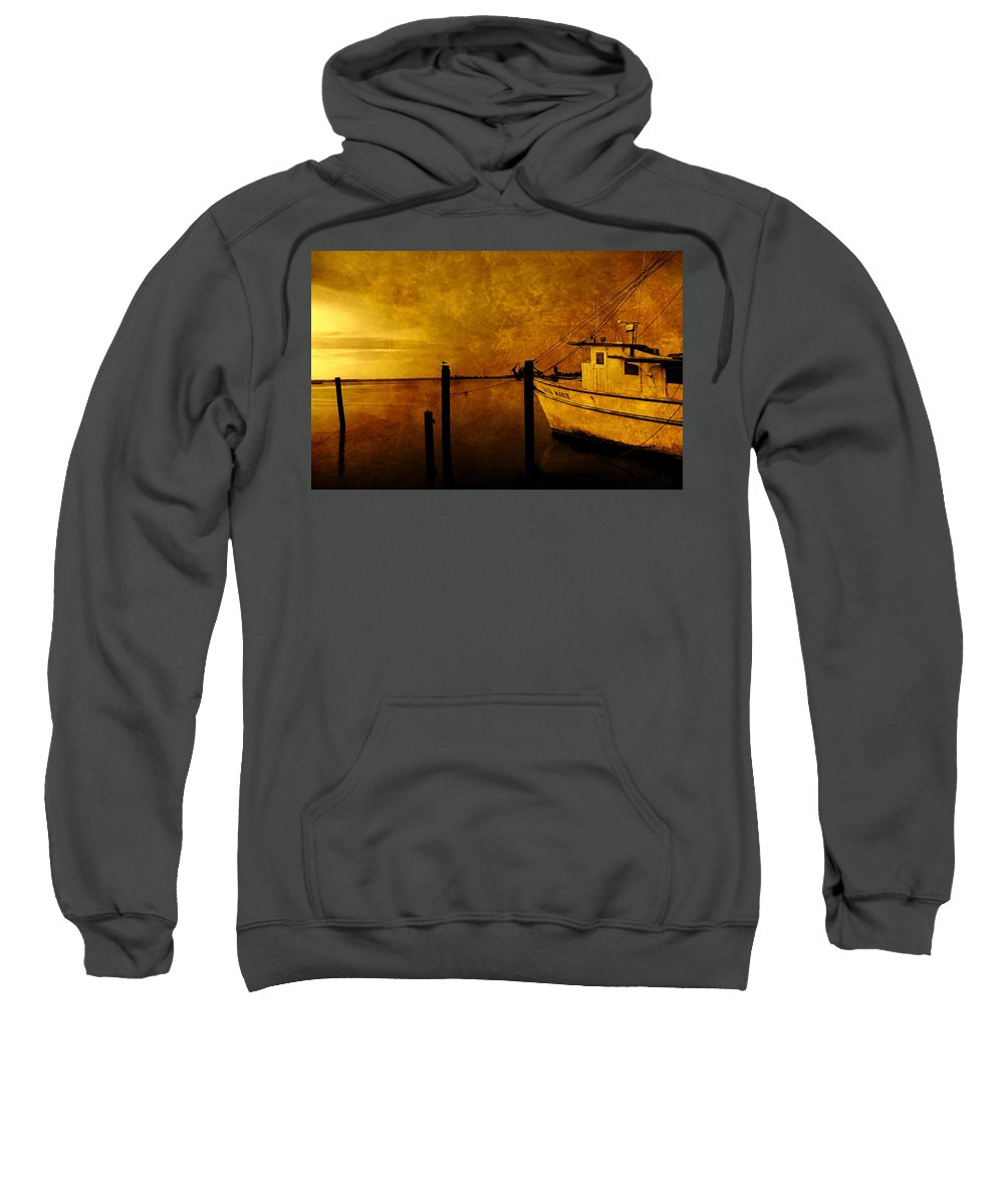 Rosa Marie Sweatshirt featuring the photograph Peace In The Harbor by Susanne Van Hulst