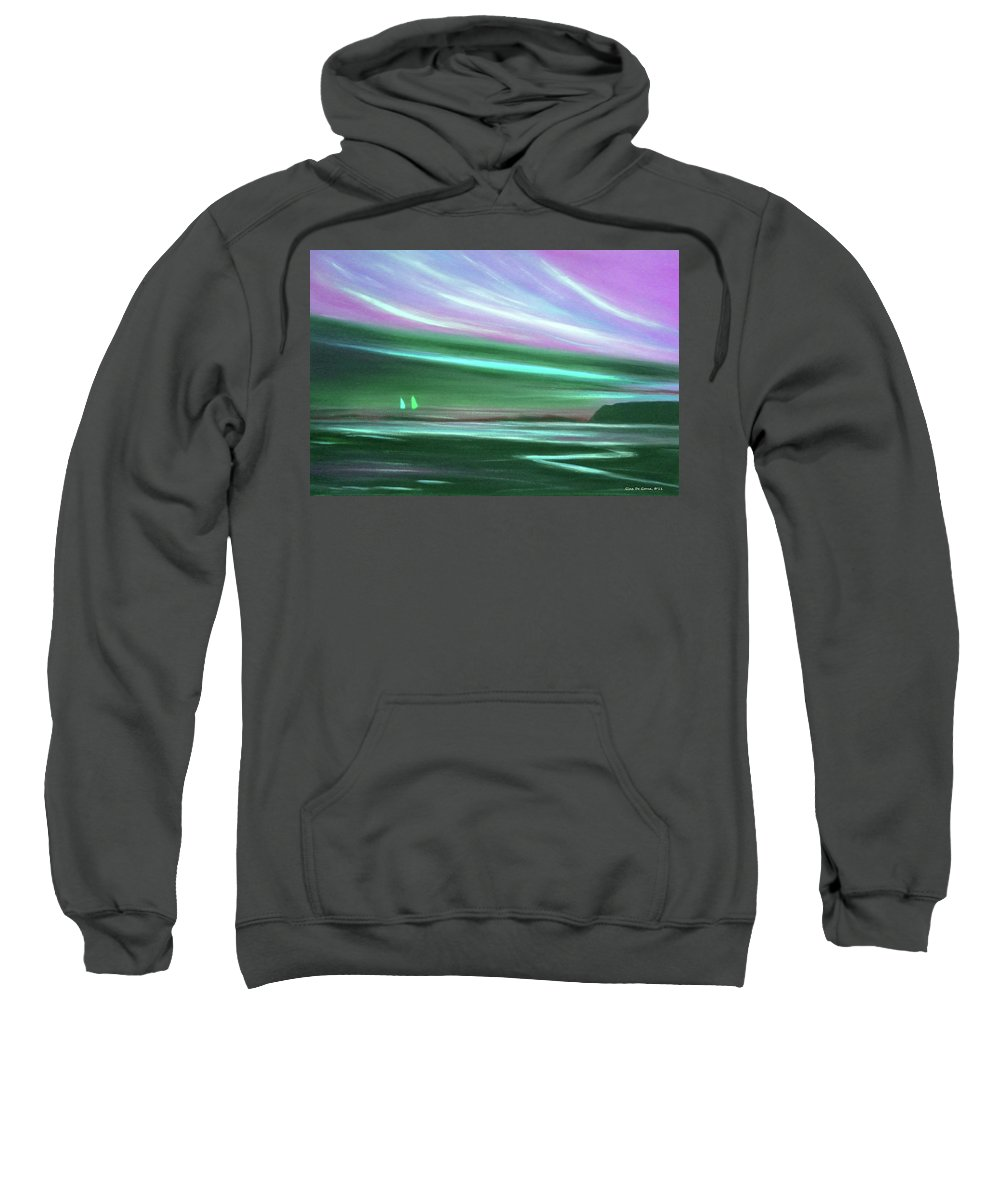 Brown Sweatshirt featuring the painting Peace Is Colorful 3 by Gina De Gorna