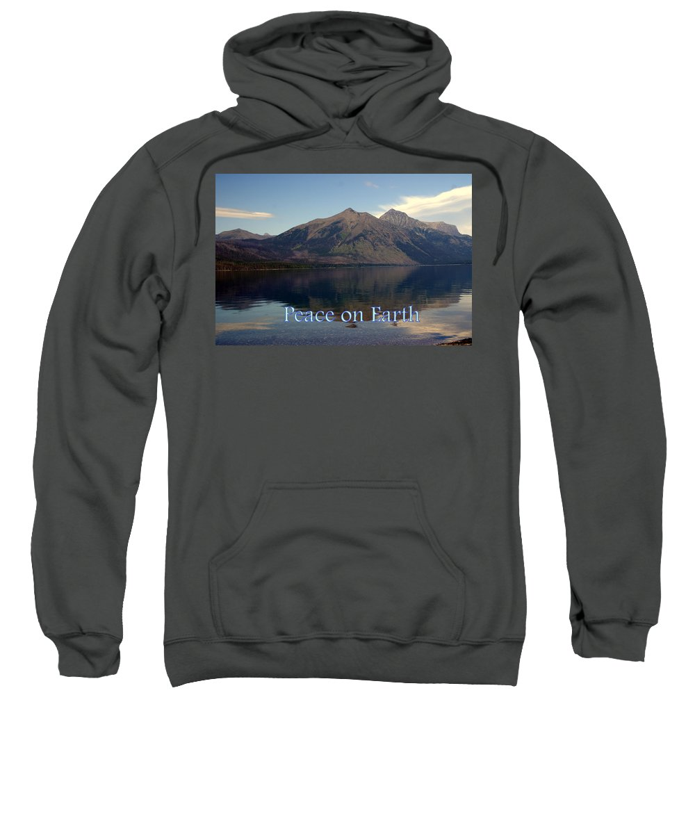Photo Greeting Card Sweatshirt featuring the greeting card Peace On Earth 1 by Marty Koch