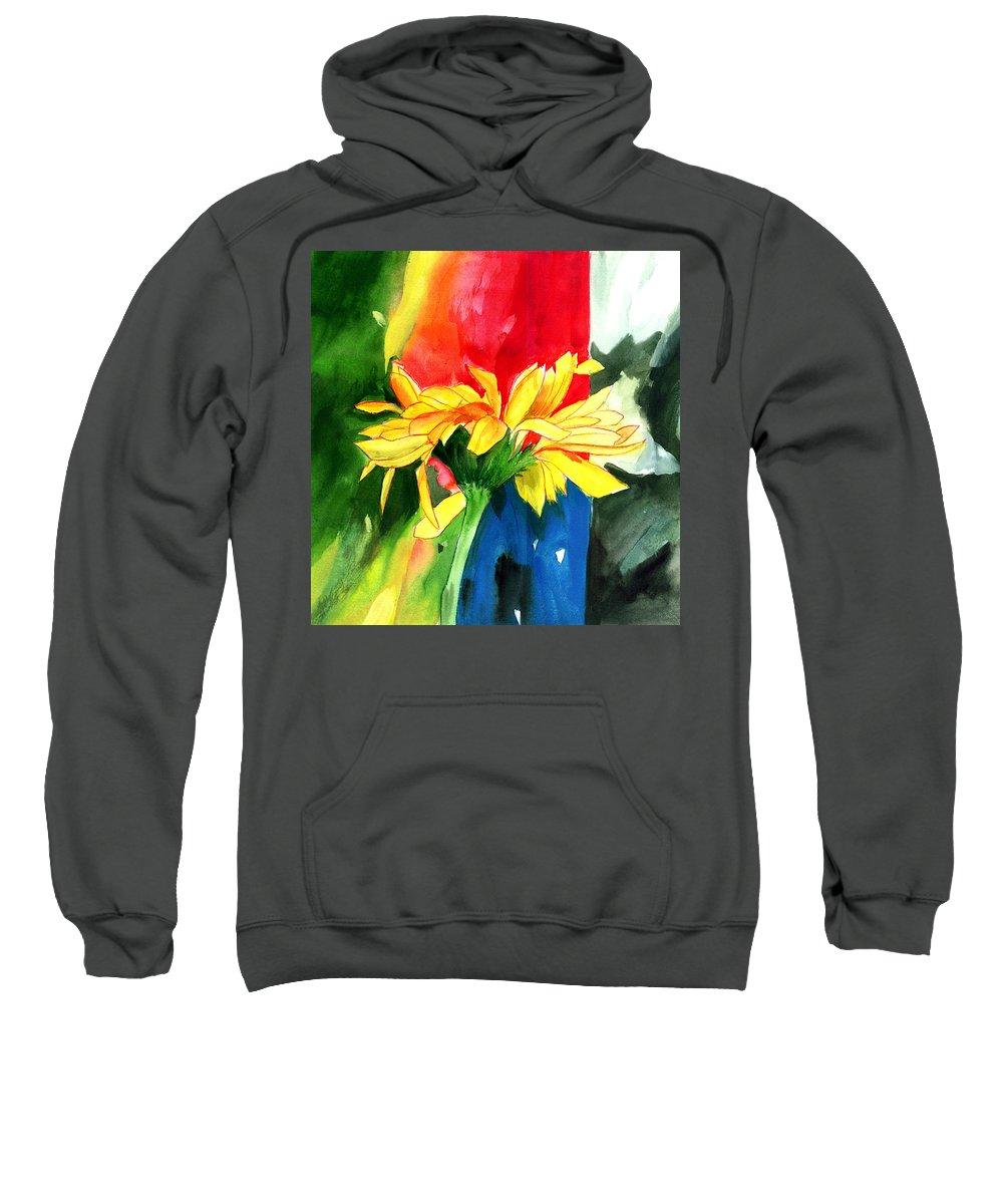 Peace Sweatshirt featuring the painting Peace Square by Anil Nene