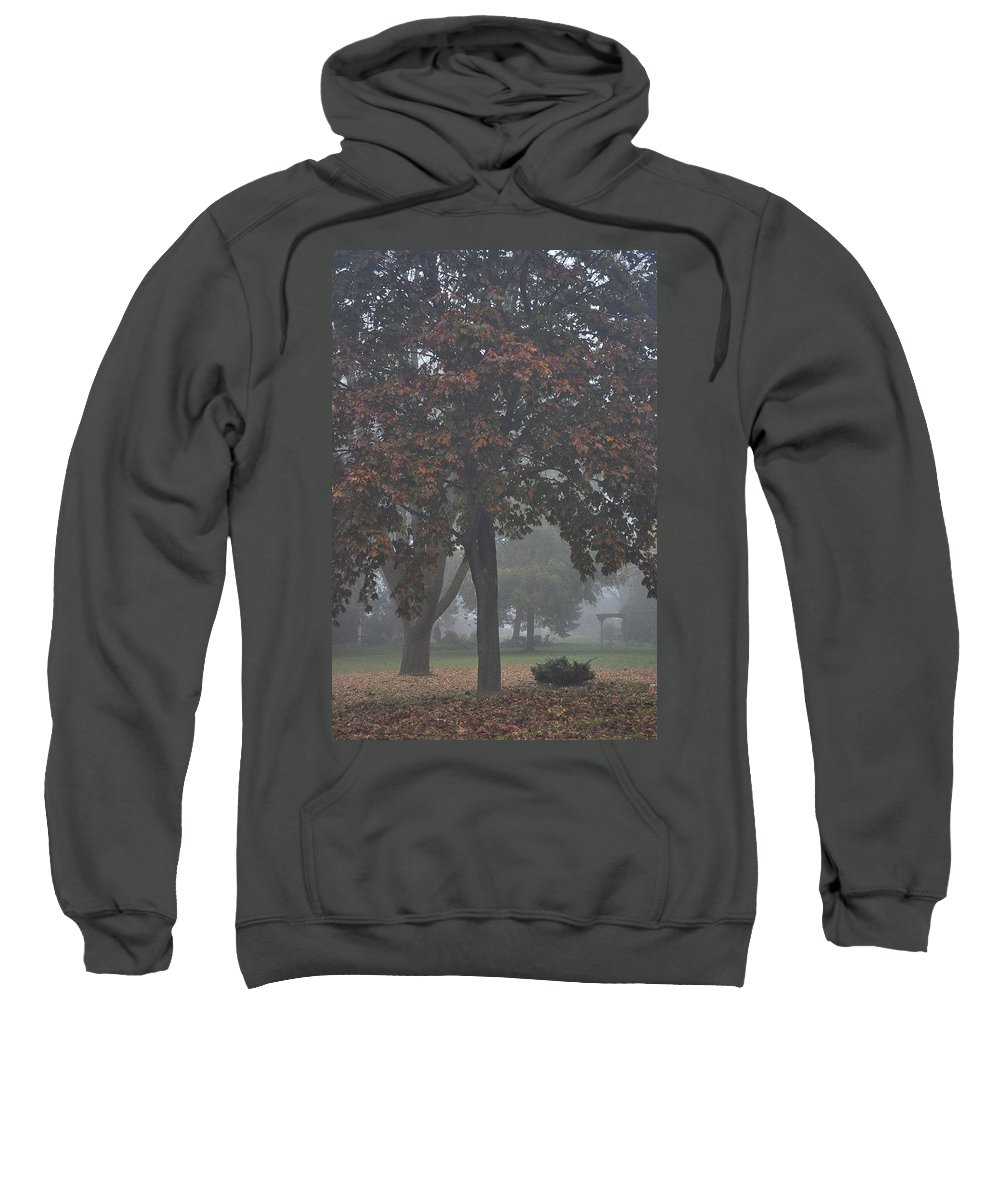 Fall Sweatshirt featuring the photograph Peaceful Morning Mist by Tim Nyberg