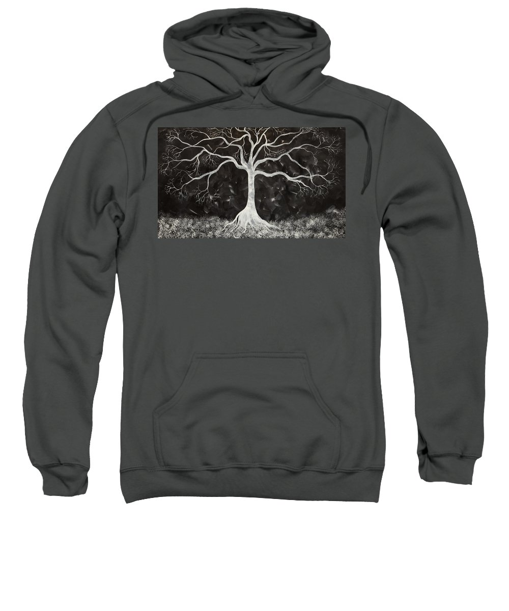 Tree Sweatshirt featuring the painting Peaceful Night by Tina Law