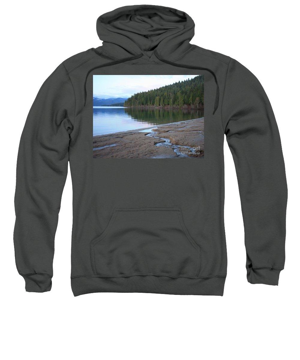 Idaho Sweatshirt featuring the photograph Peaceful Spring Lake by Carol Groenen