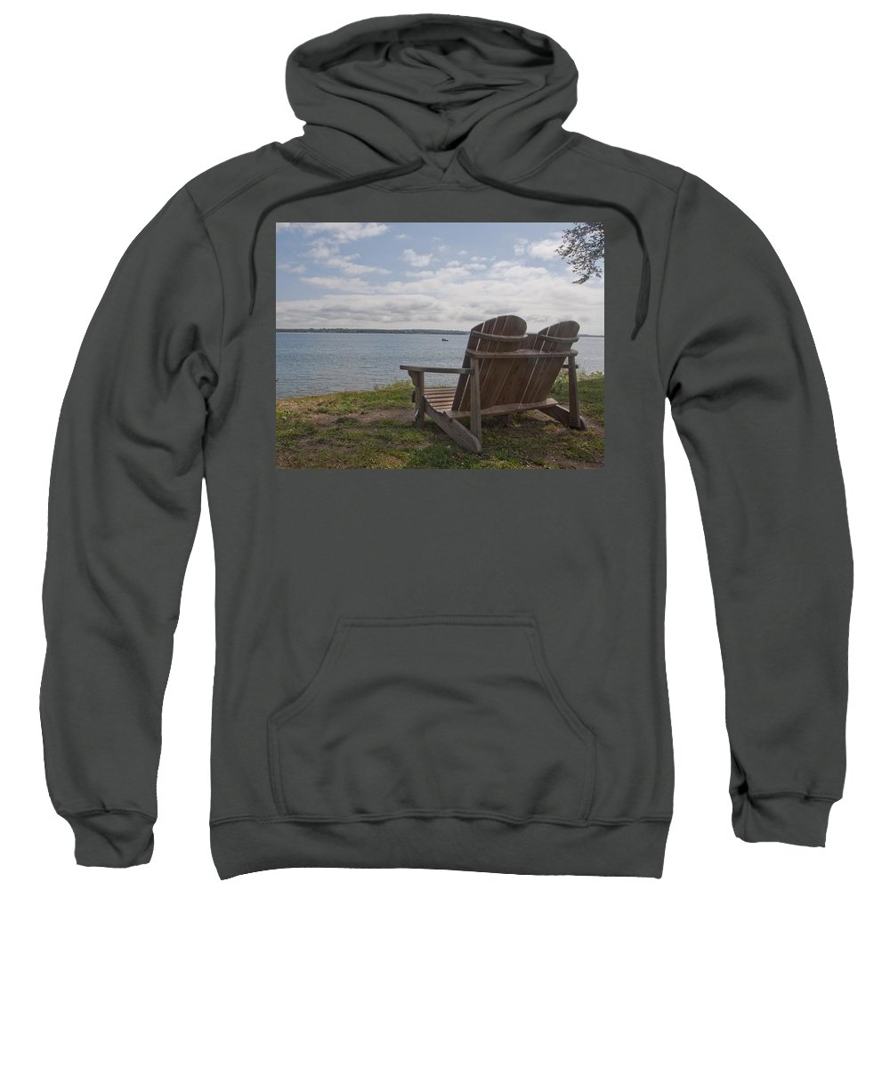 Glen Park Sweatshirt featuring the photograph Peaceful Sunday Morning by Steven Natanson