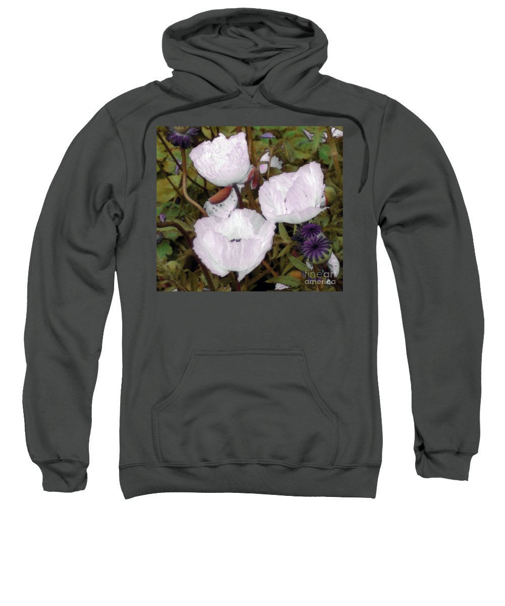 Blooms Sweatshirt featuring the digital art Pearlblossoms by RC DeWinter