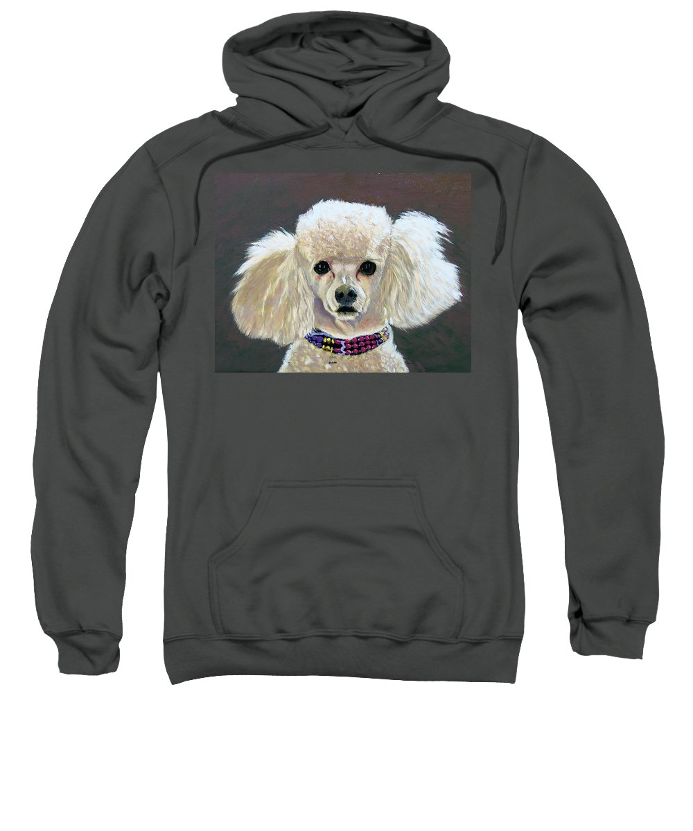 Dog Sweatshirt featuring the painting Pebbles by Stan Hamilton