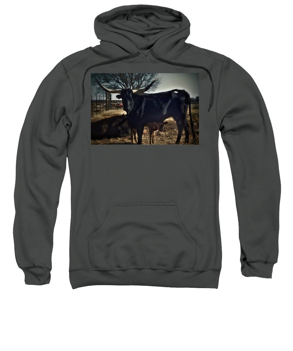 Sweatshirt featuring the photograph Peek-a-boo by Vickie Downing-Boyd