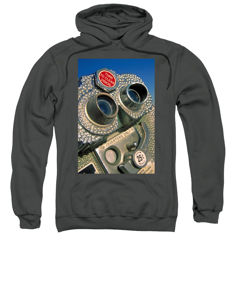 View Sweatshirt featuring the photograph Peep Show by Skip Hunt