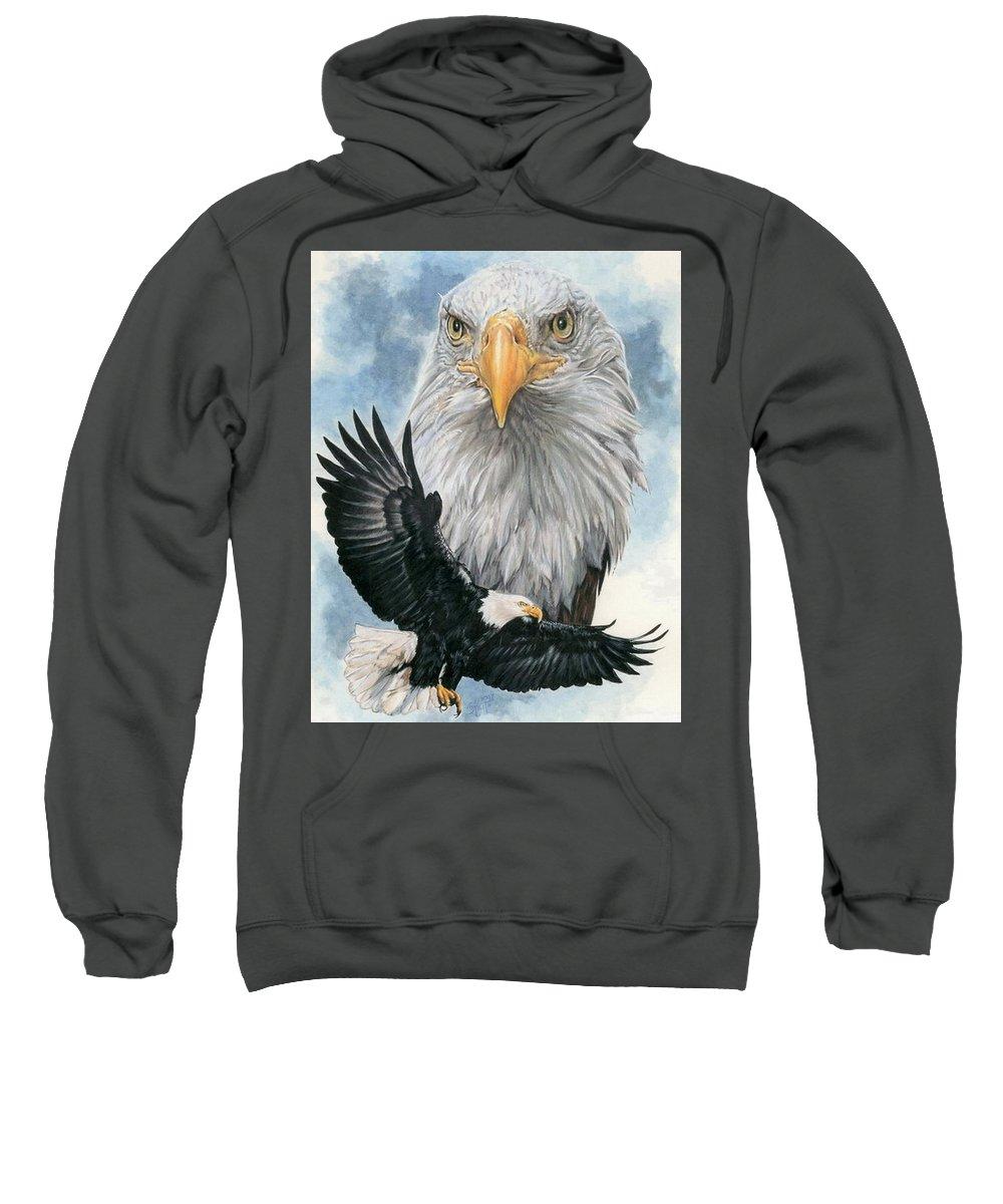 Bald Eagle Sweatshirt featuring the mixed media Peerless by Barbara Keith