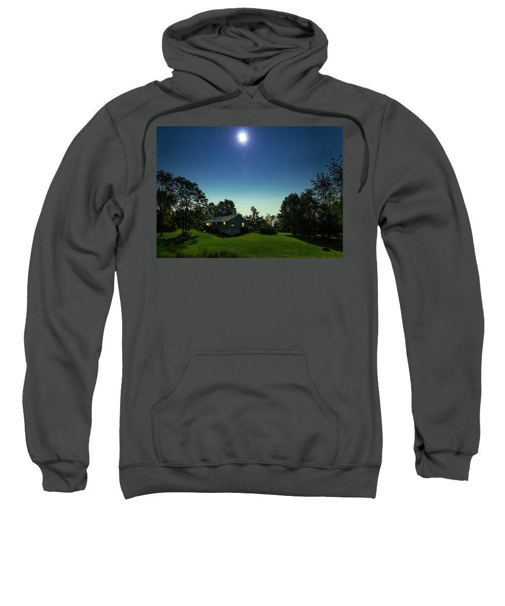 Constellation Sweatshirt featuring the photograph Pegasus And Moon Over The Shenandoah Valley by Greg Reed