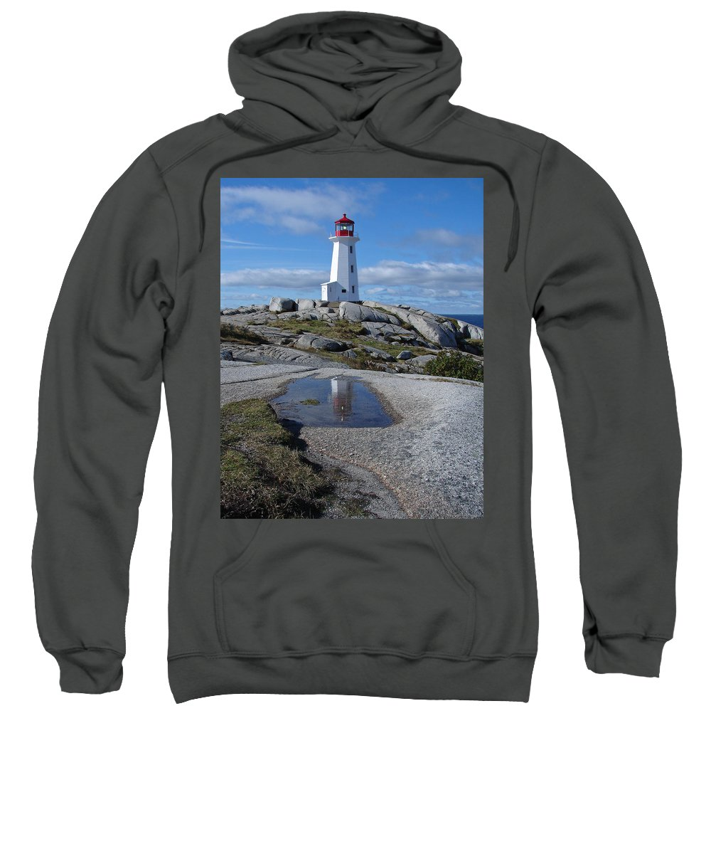 Seascape Sweatshirt featuring the photograph Peggys Cove Nova Scotia Canada by Heather Coen