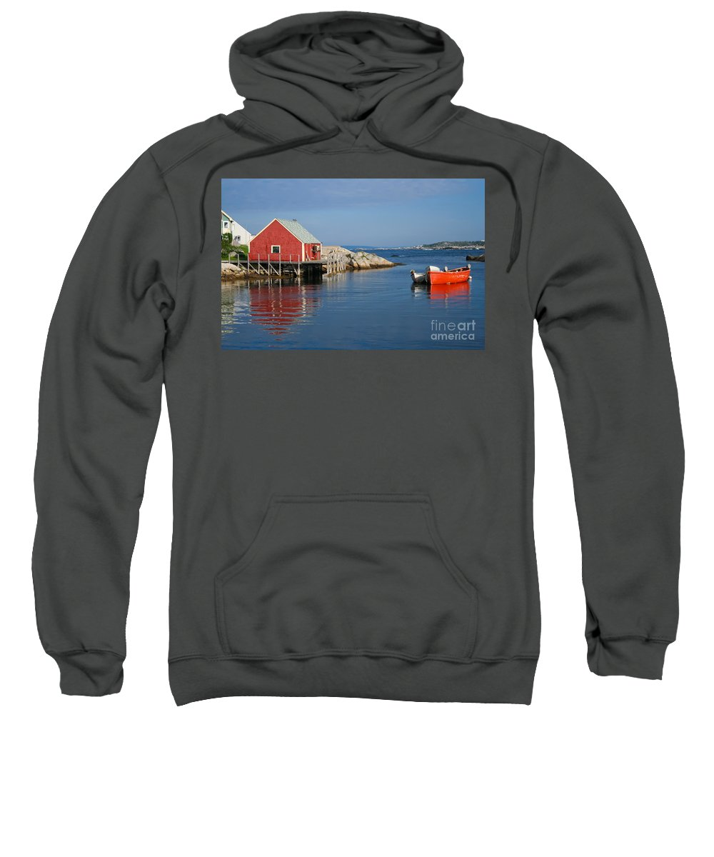 Peggy's Cove Sweatshirt featuring the photograph Peggys Cove by Thomas Marchessault