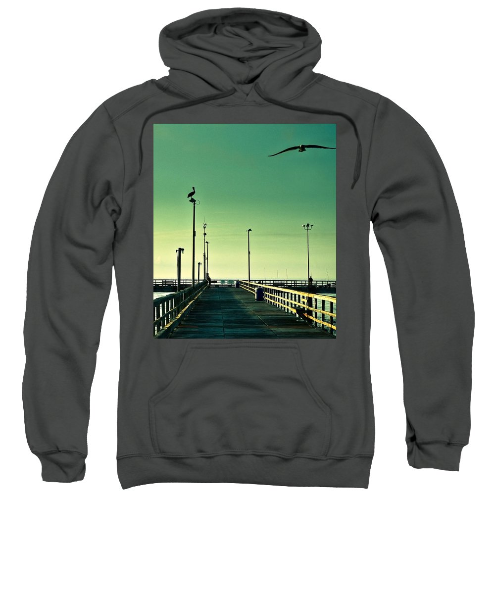 Americana Sweatshirt featuring the photograph Pelican On Watch Duty by Marilyn Hunt