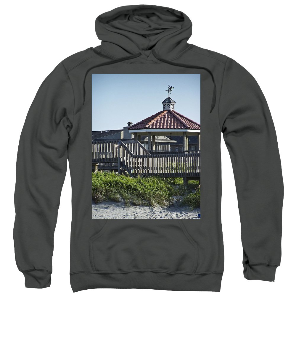 Pelican Sweatshirt featuring the photograph Pelican Weathervane Ocean Isle Norht Carolina by Teresa Mucha