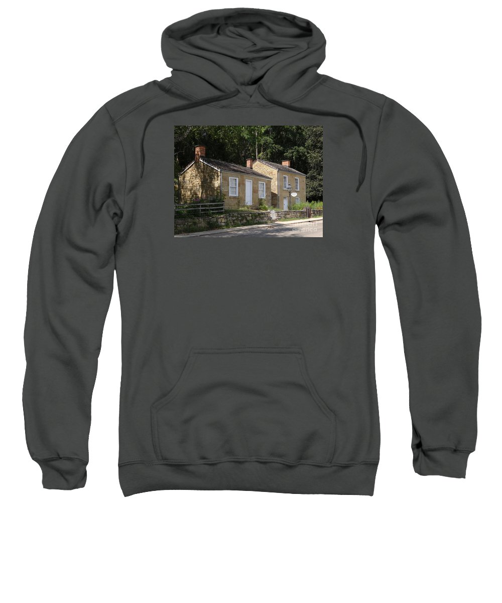 Pendarvis Sweatshirt featuring the photograph Pendarvis Houses Summer by Teresa Hayes