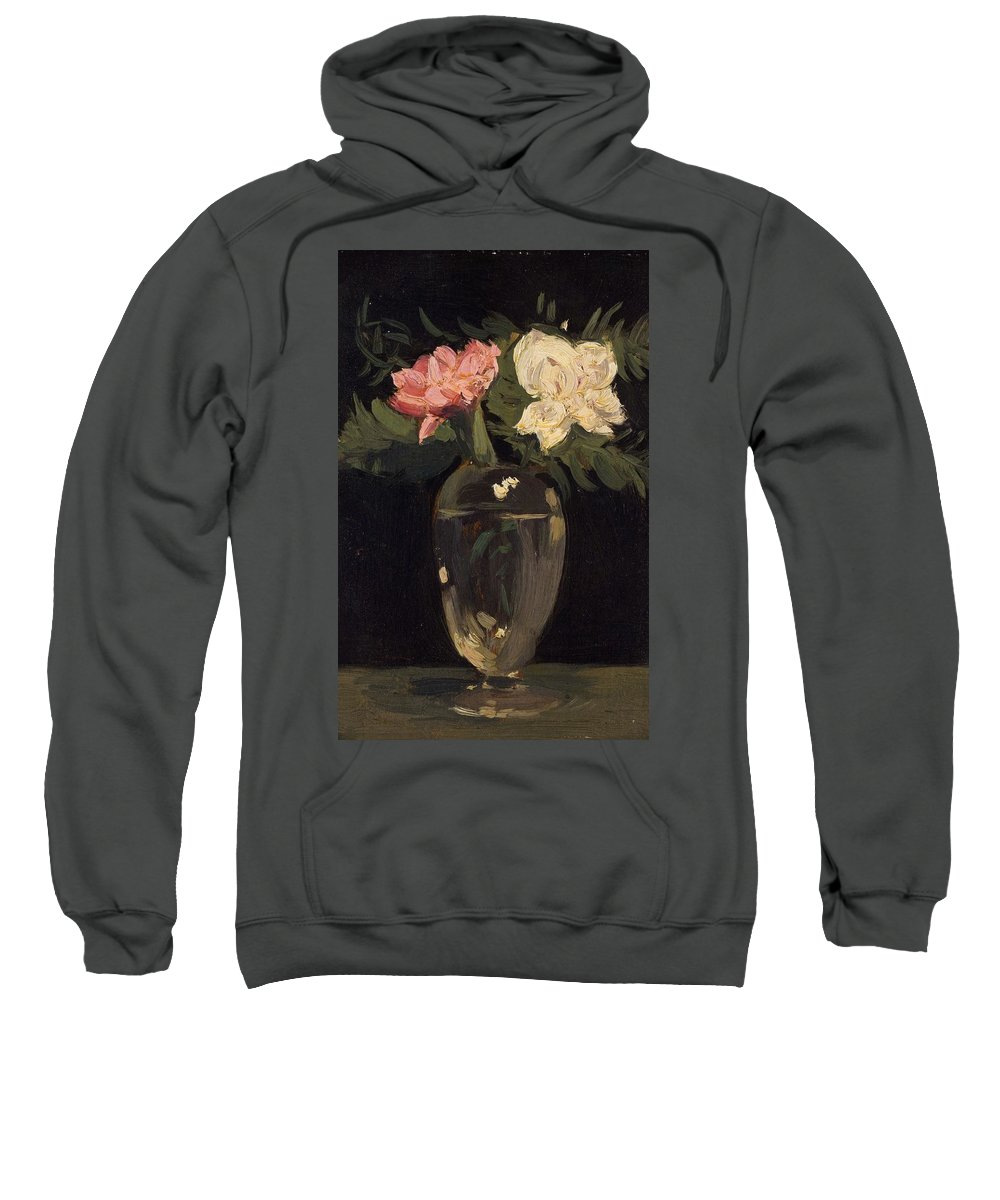 Flower Sweatshirt featuring the painting Peonies 1905, By Samuel John Peploe by Samuel John Peploe