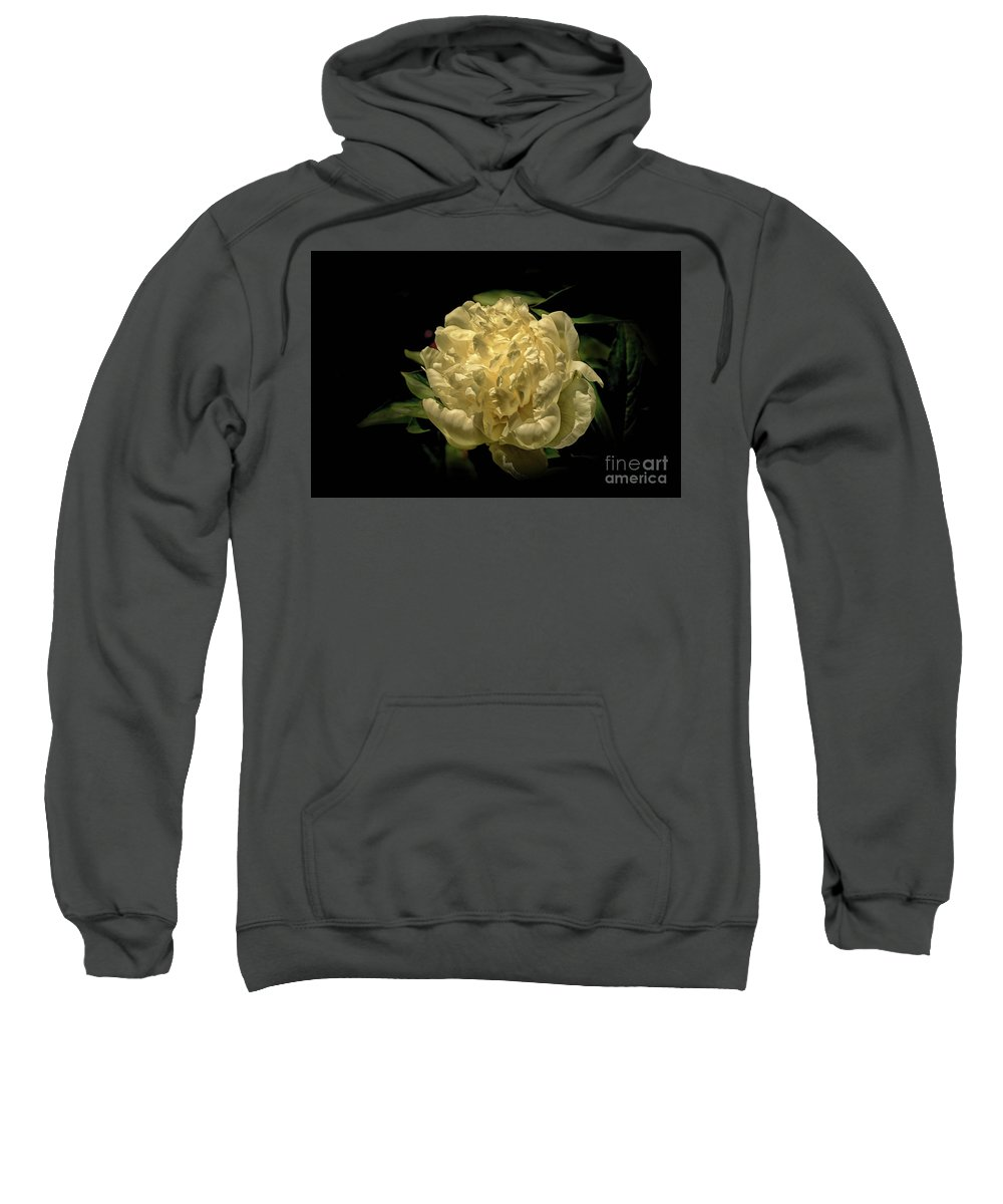 Peony Sweatshirt featuring the photograph Peony Time by Arnie Goldstein