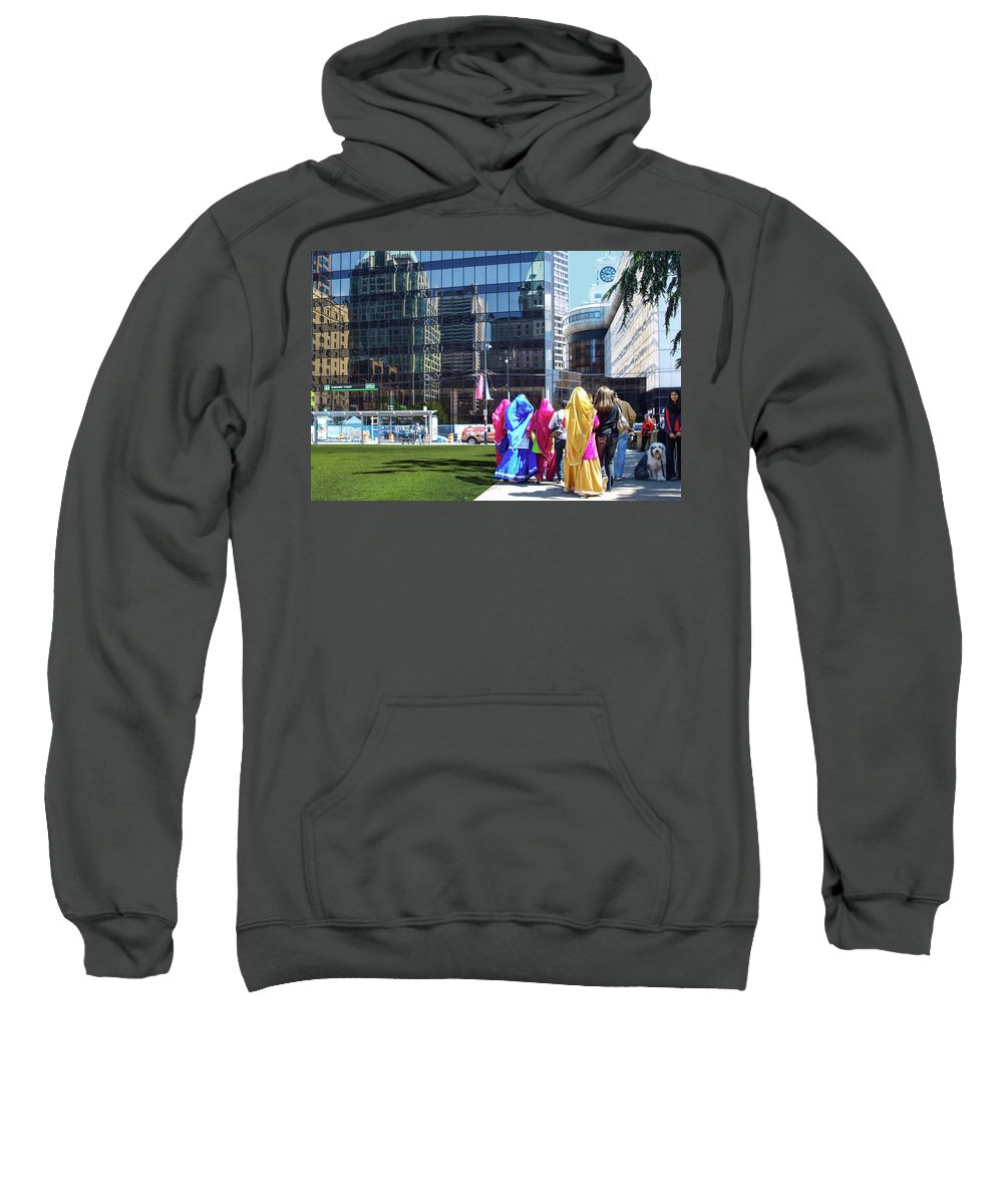 Portfolio Sweatshirt featuring the photograph People - East Indian Women In Traditional Dress by Arthur Babiarz