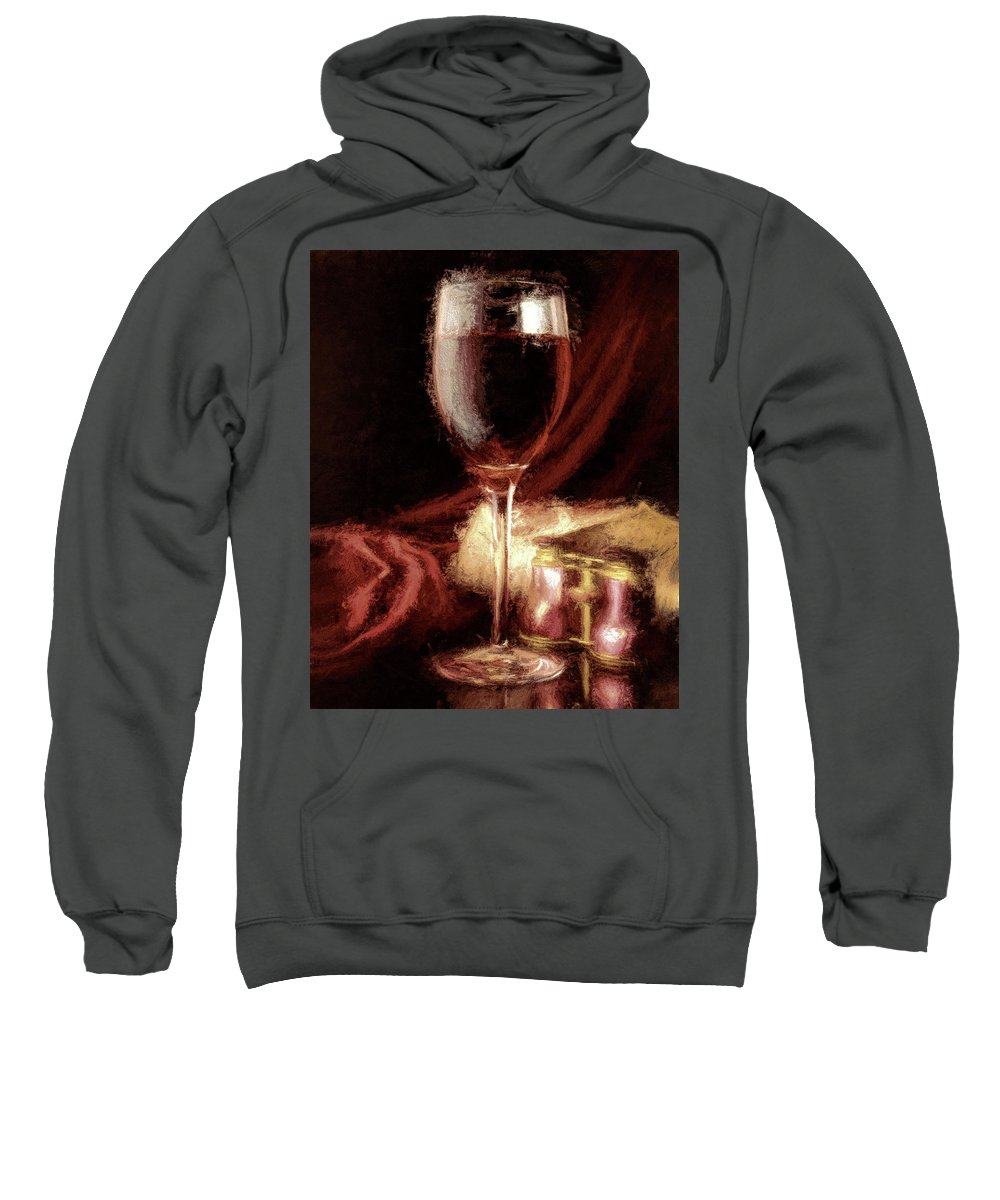 Wine Sweatshirt featuring the photograph A Perfect Glass Of Wine by Peter Hogg