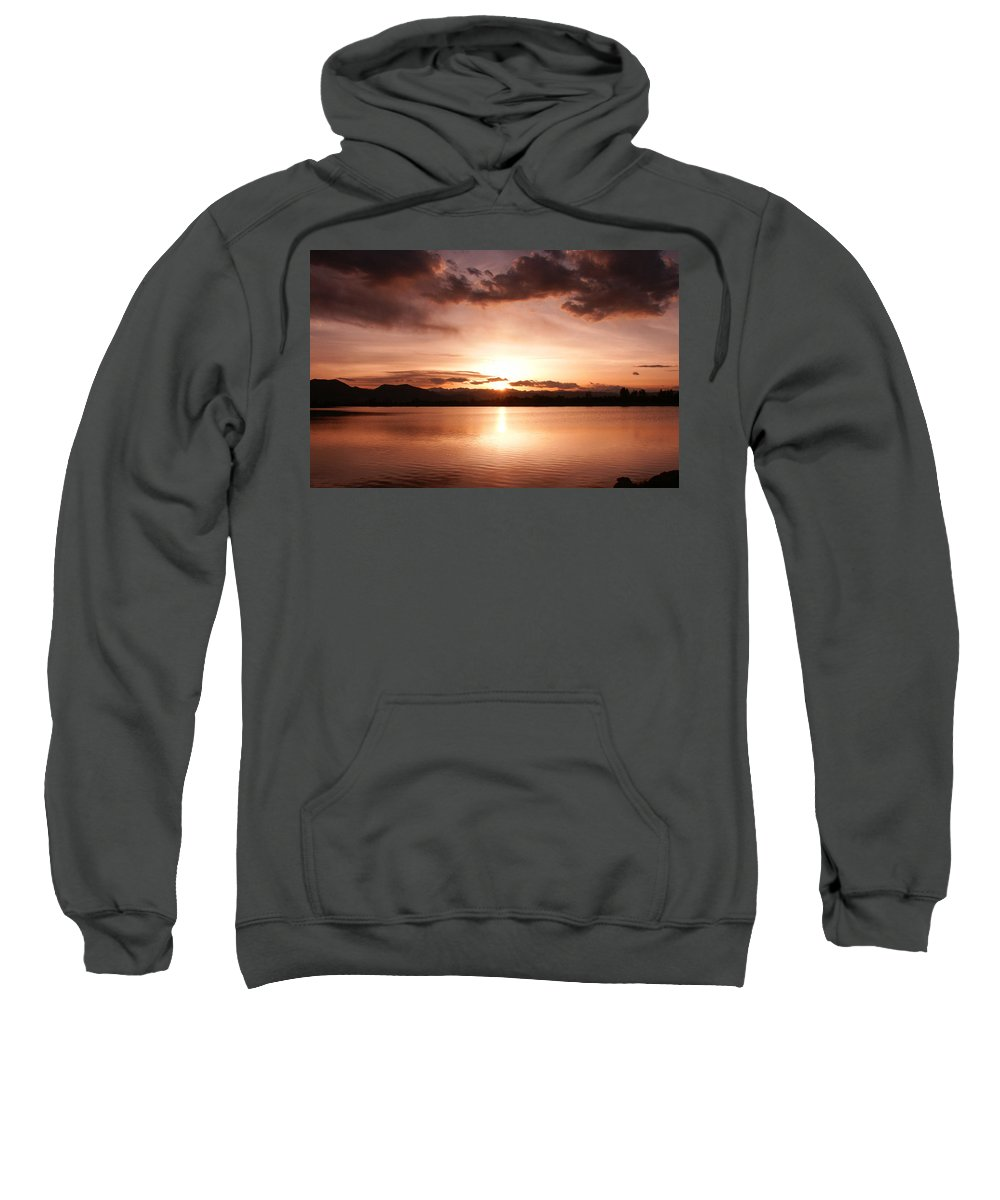 Perfect Sweatshirt featuring the photograph Perfect Sunset by Marilyn Hunt
